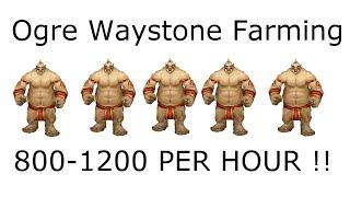 WoW 6.2 Best Ogre Waystone Farming spot! (800-1200/hr) draenor guide