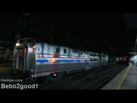 Amtrak: 2 New CAF Viewliner II Diner Cars on Silver Meteor Train 97 (NYP)