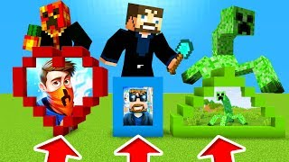 Minecraft PE : DO NOT CHOOSE THE WRONG PORTALS! (PrestonPlayz, SSundee & Mutant Creeper)