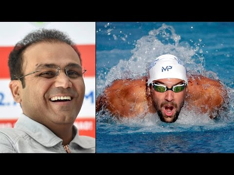 Michael Phelps wins 21st Olympic gold, Virender Sehwag wishes in funny way| Oneindia News