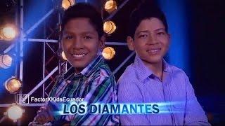 Los Diamantes - Ella es mi Fiesta (Carlos Vive) | (Programa 7) 1ra Gala Factor X Kids Ecuador 2015
