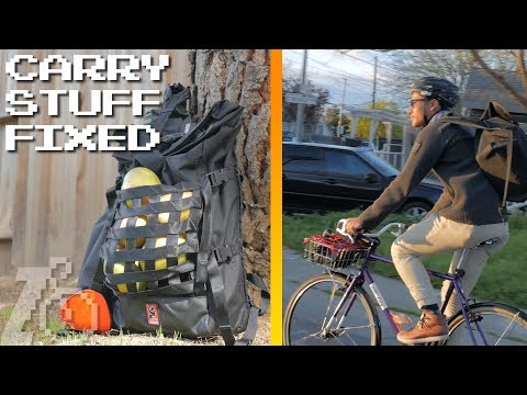 How To Carry Stuff On A Fixed Gear Bike | Sponsored By Chrome Industries