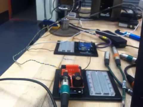 Arduino Mega, CMUcam4 and DMX control