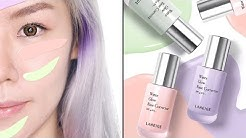 NEW LANEIGE WATER GLOW BASE CORRECTORS - REVIEW + SWATCH + TRY ON!
