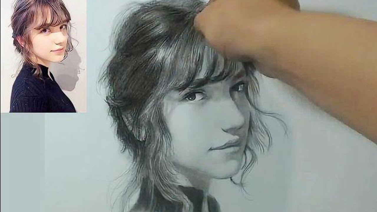 Beautiful Pencil Portrait Drawing
