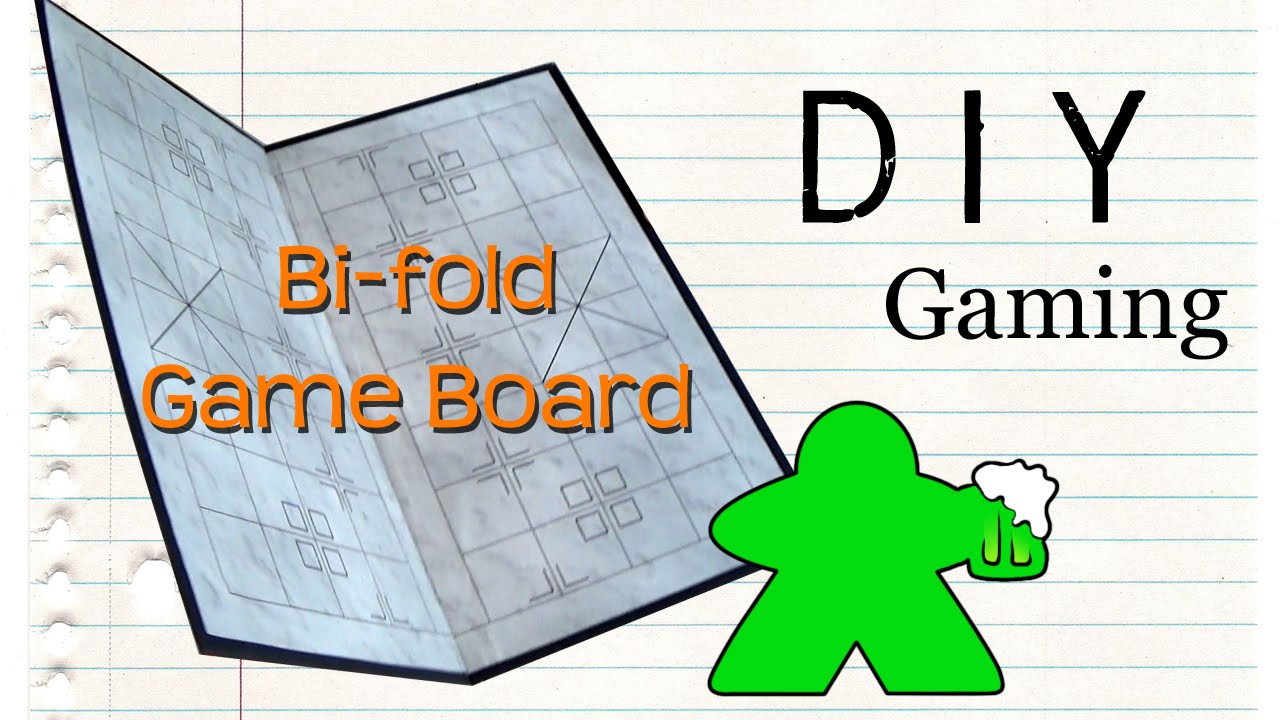 Diy Gaming How To Make A Bi Fold Gameboard Youtube