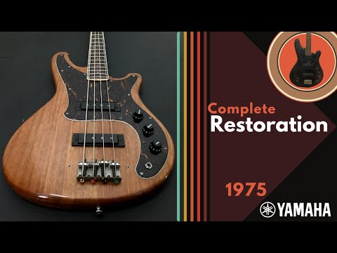 Rescued! The full restoration of a 1975 Yamaha SB55 Bass, with tone test on Spark Amp (bass setting)