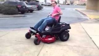 Idiot Doing Wheelie On Zero Turn Wheelie