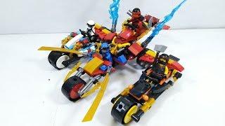 Lắp ráp kết hợp 4 anh em Lego Ninjago thành xe mô tô lớn cool ngầu - đồ chơi trẻ em