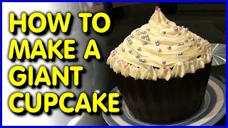 How To Make A Giant Cupcake + UNIQUE Solid Chocolate Case [How To #1]