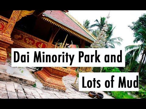 TRAVEL VLOG CHINA: Dai Minority Park and Lots of Mud (I) // 中国旅行记:傣族公园