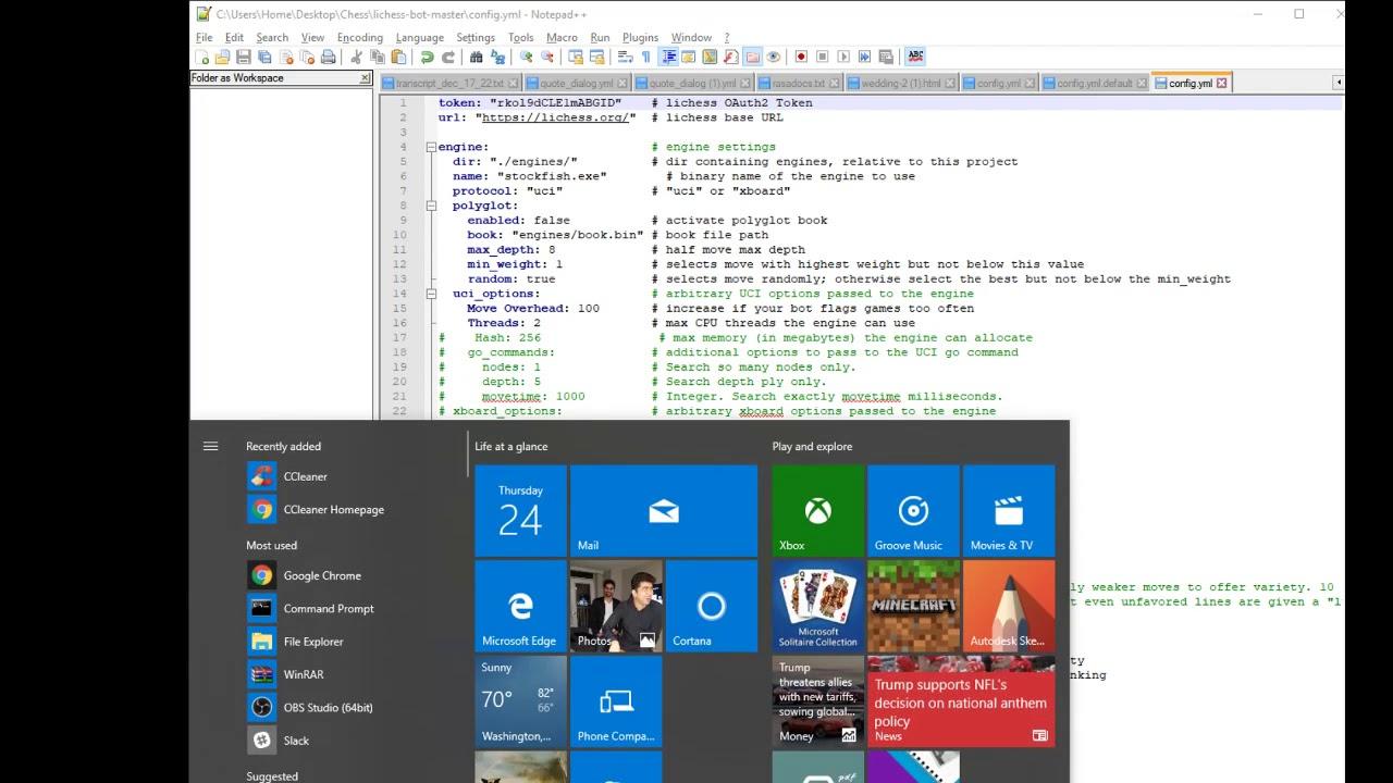 Lichess Bot Setup Windows