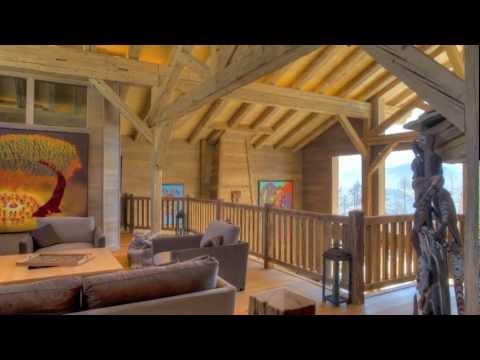superbe grand chalet de luxe louer la ferme de la delege crans montana valais suisse youtube. Black Bedroom Furniture Sets. Home Design Ideas