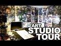 2018 Art Studio Tour | My Camera Equipment | AND INSTAGRAM CONTEST WINNERS!