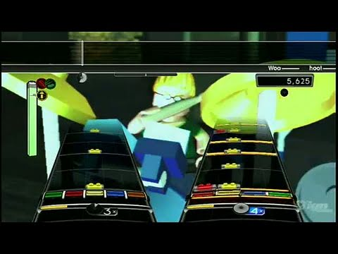 LEGO Rock Band Nintendo Wii Gameplay - Song 2 Blur