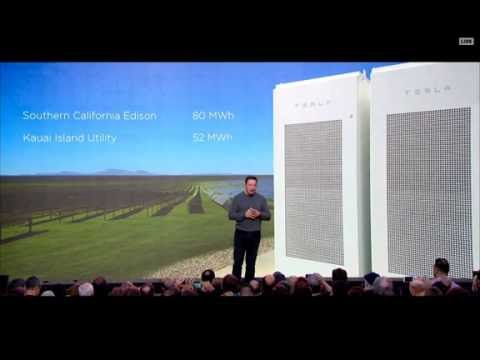 Elon Musk Unveils New Solar Roof, Powerwall 2 & Powerpack 2 - Tesla & SolarCity (2016-10-28)