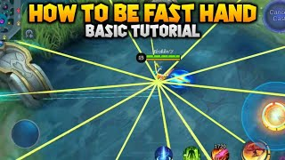HOW TO BE FAST HAND TUTORIAL (FREESTYLE FANNY) DAISUKE MLBB