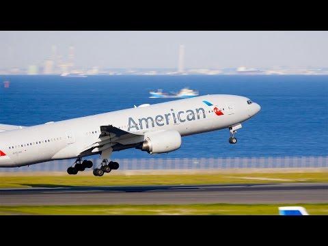 [4K]アメリカン航空AA26便 B777-200ER離陸