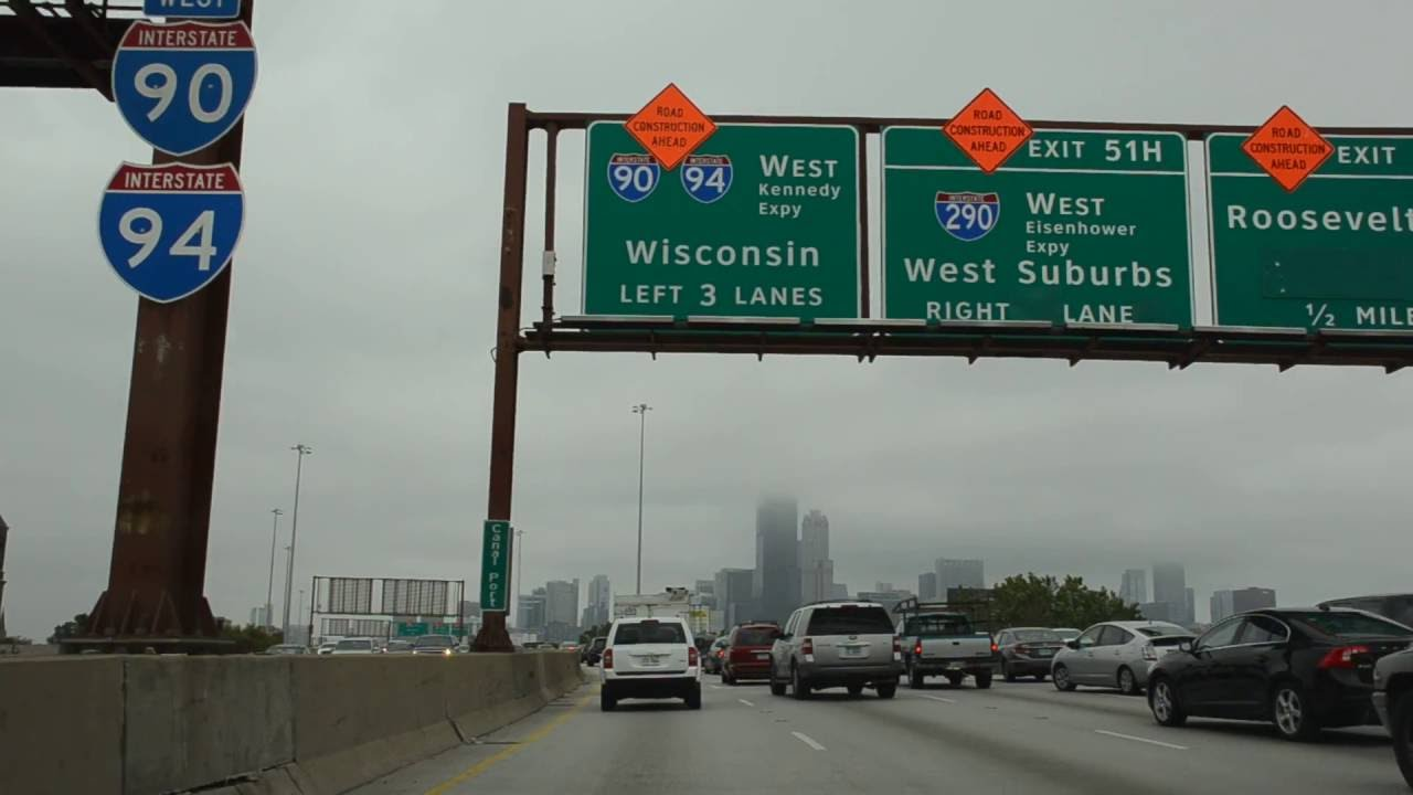[IL] I-94 WB and I-90 WB (Dan Ryan Expressway) in Chicago (Oct 2016)