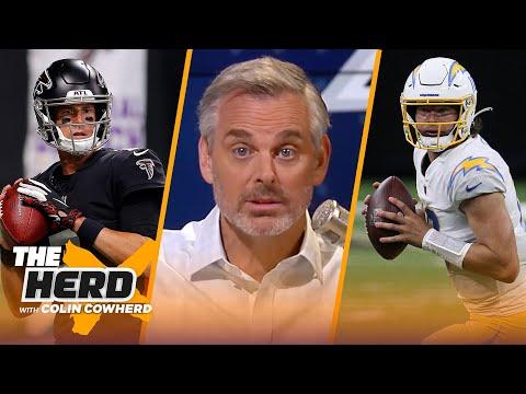Justin Herbert's the next star QB in NFL, talks Matt Ryan & Falcons' future — Colin | NFL | THE HERD