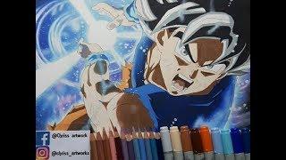 Let`s Draw Son Goku Ultra Instinct Kamehameha