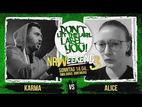 Alice vs Karma // DLTLLY RapBattle (NRWeekend3 // Dortmund) // 2019