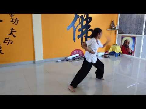 Indian Kung-fu Girls Nellore Shaolin Wushu Warrior Camp Teach Master Prabhakar Reddy