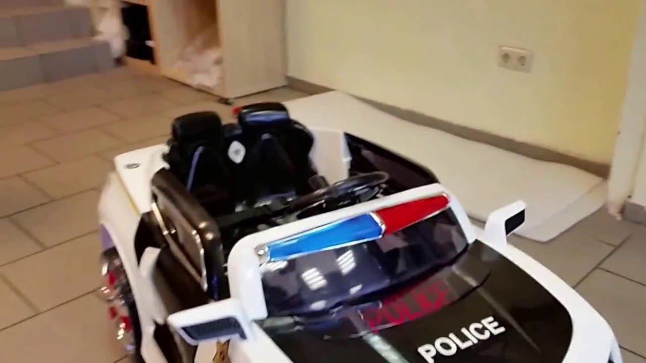 Polizeiauto Kinderauto 12v Usb Fernbe Nung Neu