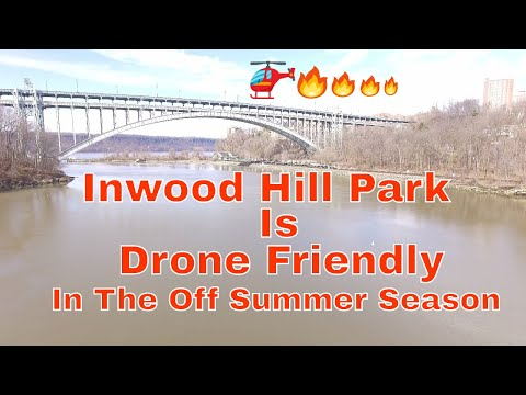 Inwood Hill Park from a drone