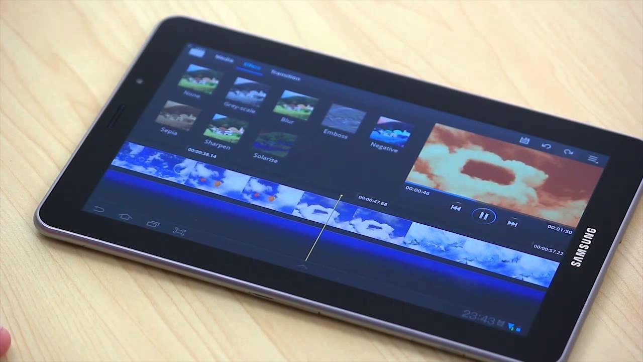 samsung galaxy tab 2 10.1 video editor