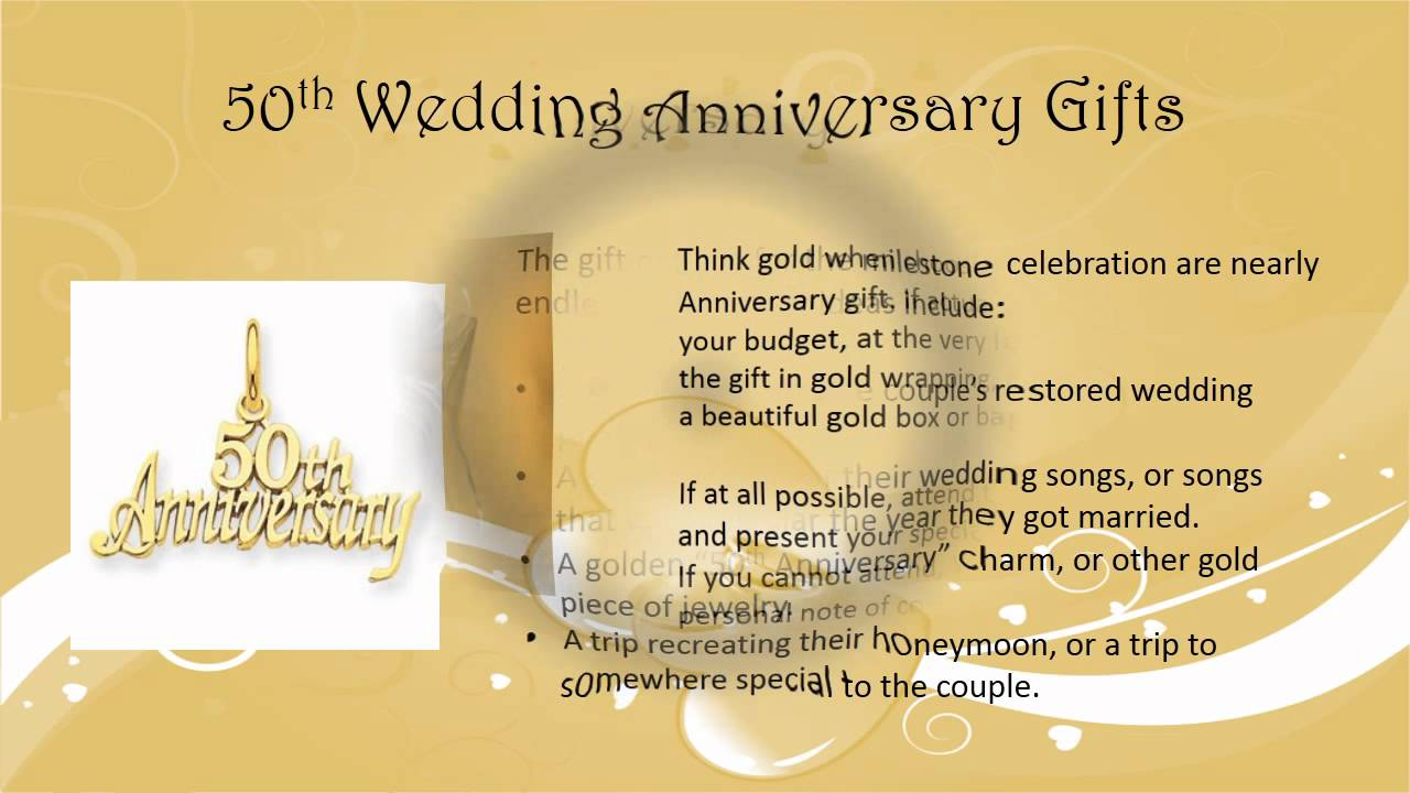 Golden Wedding Gift Ideas For Parents: 50th Wedding Anniversary Gift Ideas