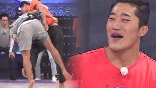 김종국 쓰러뜨린 김동현의 유도기술 '파이터의 위엄' 《Running Man》런닝맨 EP437