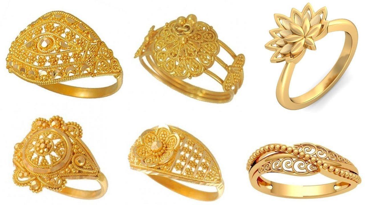b5b1adb22 latest gold ring designs/ Daily Wear Gold Rings Designs For Women/rings  designs for engagement
