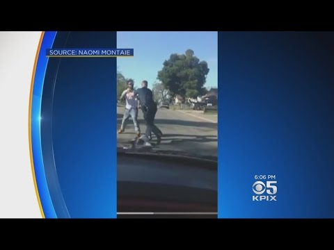 Sacramento Cop Caught On Video Beating Alleged Jaywalker Placed On Leave