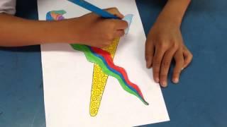 Drawing and Coloring Keris Istiadat Melayu Alat Pertahanan Diri