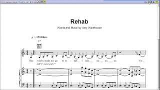 Rehab by Ami Winehouse - Piano Sheet Music:Teaser