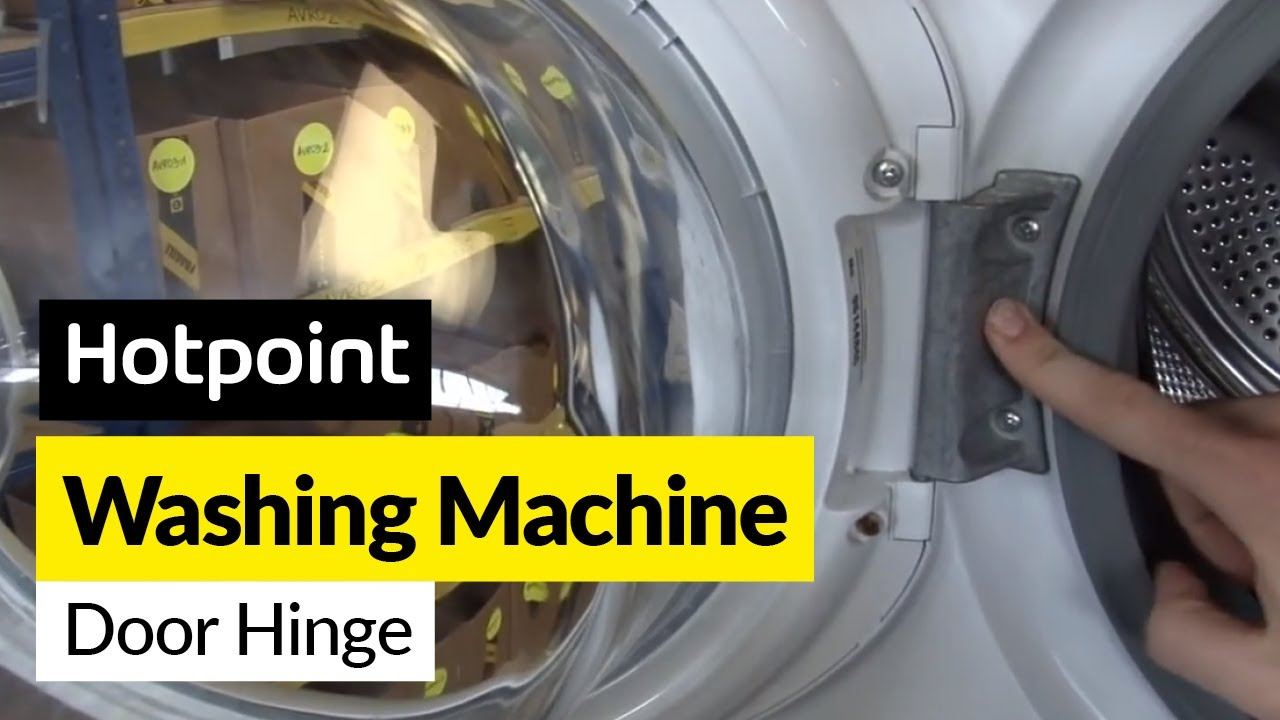 How to fix a washing machine door hinge in a Hotpoint washing machine - YouTube & How to fix a washing machine door hinge in a Hotpoint washing ...