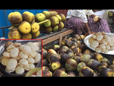 Palm Fruits - Asian Street Food, Fast Food Street in Asia, Cambodian Street food #236