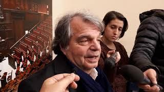 Renato Brunetta oggi in sala stampa a Montecitorio su fine campagna elettorale