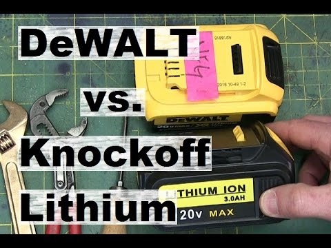 BOLTR: DeWALT knockoff battery vs. the real deal