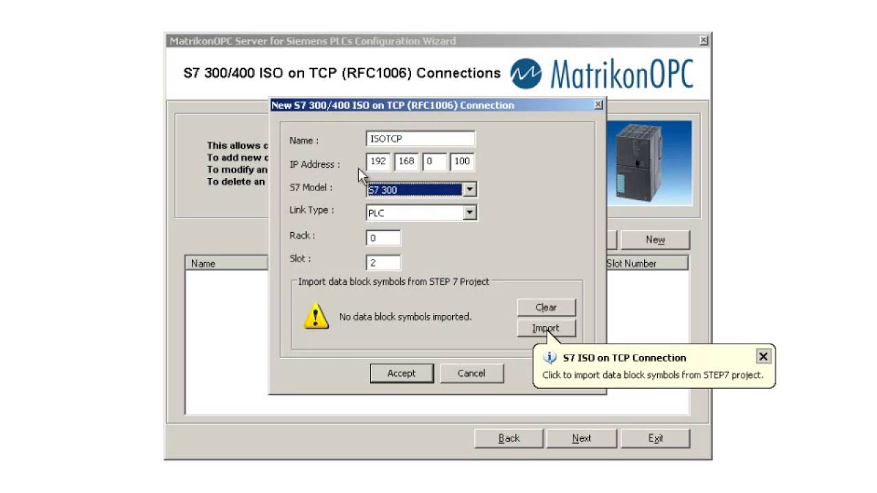 MatrikonOPC How to configure OPC Server Siemens PLC