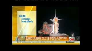 STS-135 Launch (Final Space Shuttle Mission) CNN Live Coverage Part 1