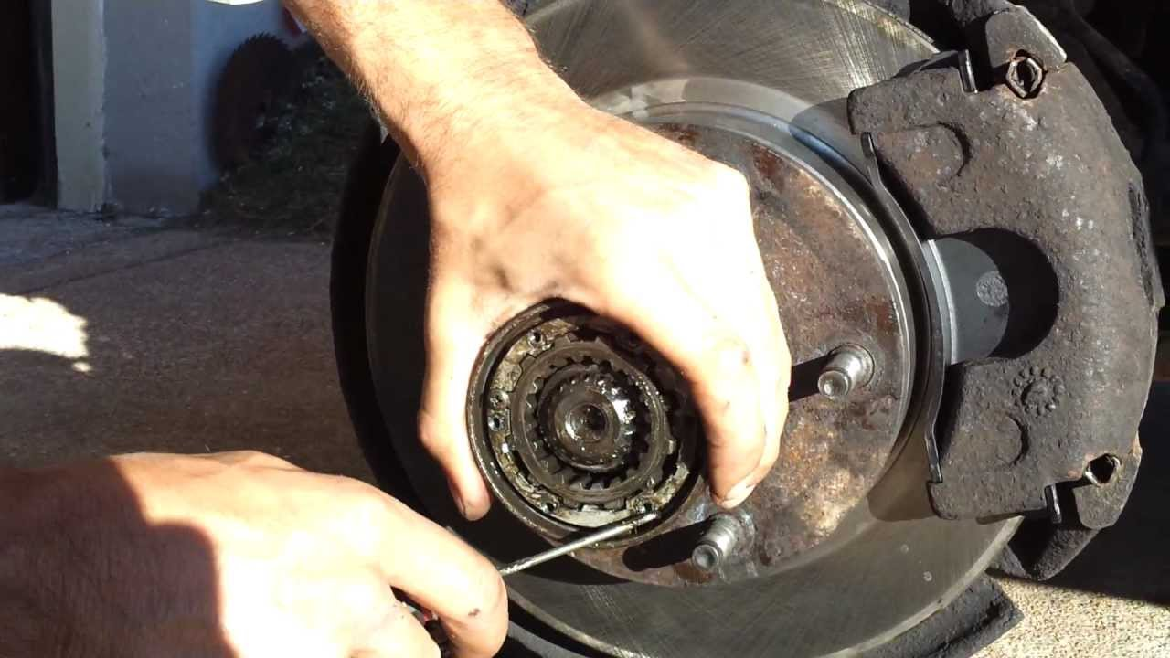 hight resolution of removing bearings and rotor on a ford f150