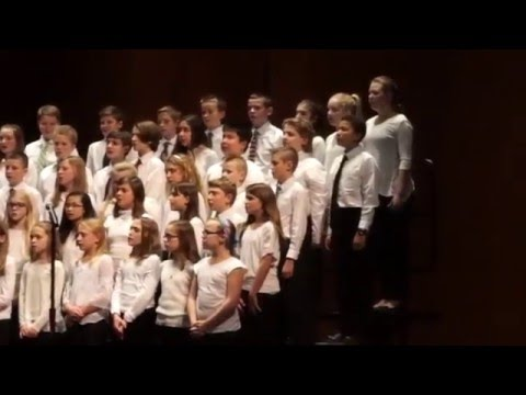 "Pilgrim Park Middle School Choir sing ""The Moon"" by Andy Beck"