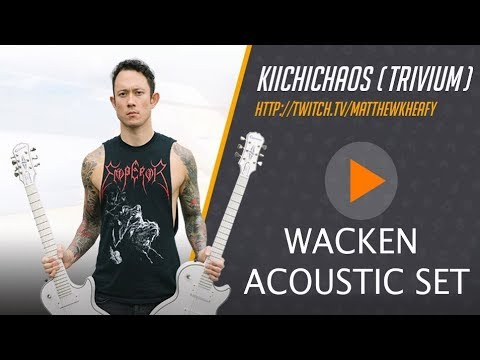 Matthew Kiichichaos Heafy I Trivium I Live Acoustic Set from Wacken