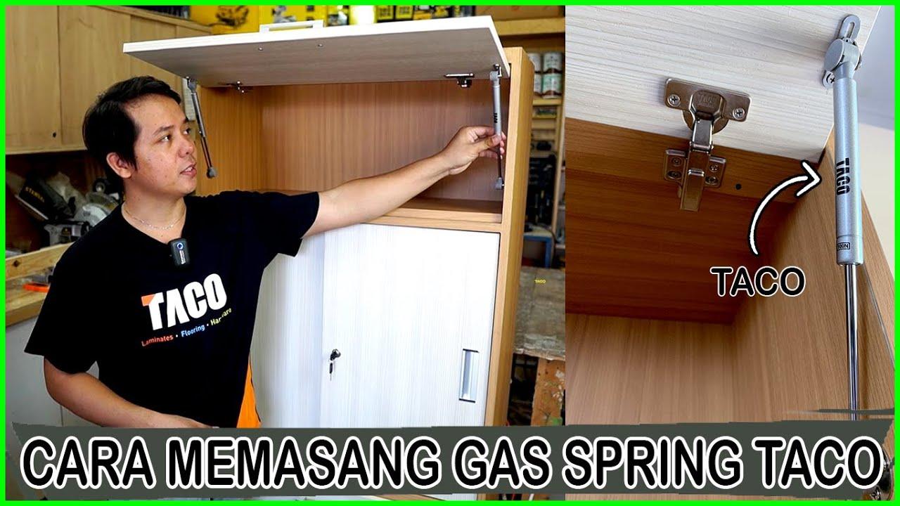TACO Gas Spring TGS100N - Cara Memasang Gas Spring Untuk Lemari Pintu Bukaan Atas