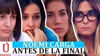 Noemi Galera señala a Natalia, Julia y Sabela antes de la final de Operación Triunfo 2018