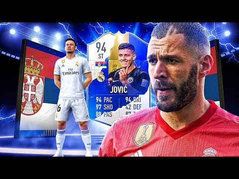 BETTER THAN TOTS BENZEMA?! 94 TEAM OF THE SEASON MADRID JOVIC PLAYER REVIEW! FIFA 19 Ultimate Team