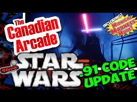Stern Star Wars Pinball Code Update 0.91 - NEW VIDEO MODE AND LIGHTSABER DUEL!!