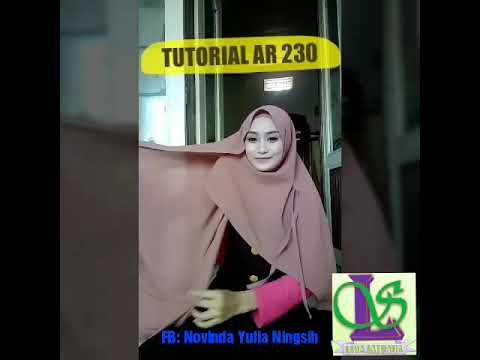 Tutorial Hijab Terbaru Instan Ar Rafi Ar 230 By 5 Saudara Hijab
